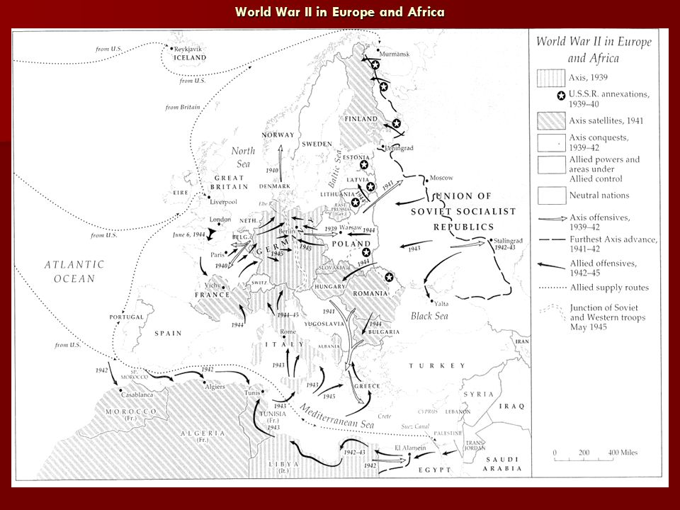World War II in Europe and Africa