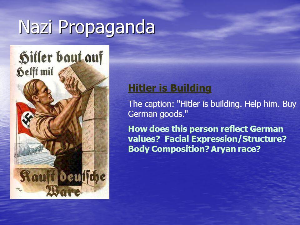 Nazi Propaganda Hitler is Building The caption: