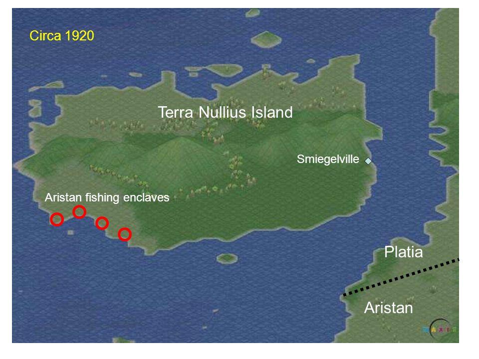 Terra Nullius Island Smiegelville Aristan fishing enclaves Platia Aristan Circa 1920