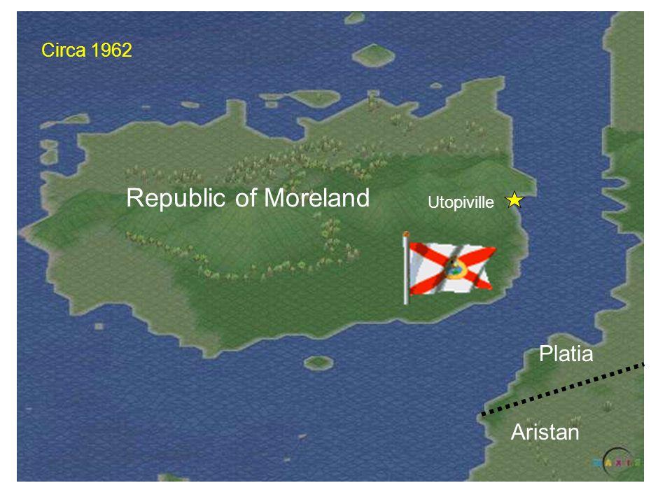 Republic of Moreland Utopiville Platia Aristan Circa 1962