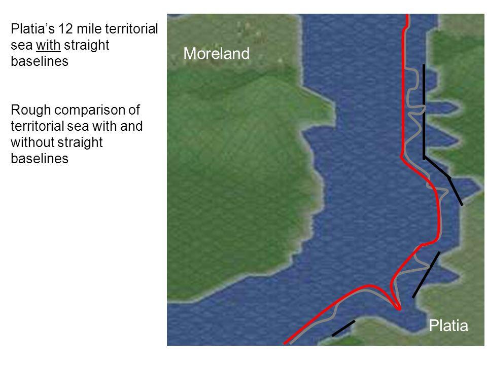 Platia Moreland Platias 12 mile territorial sea with straight baselines Rough comparison of territorial sea with and without straight baselines