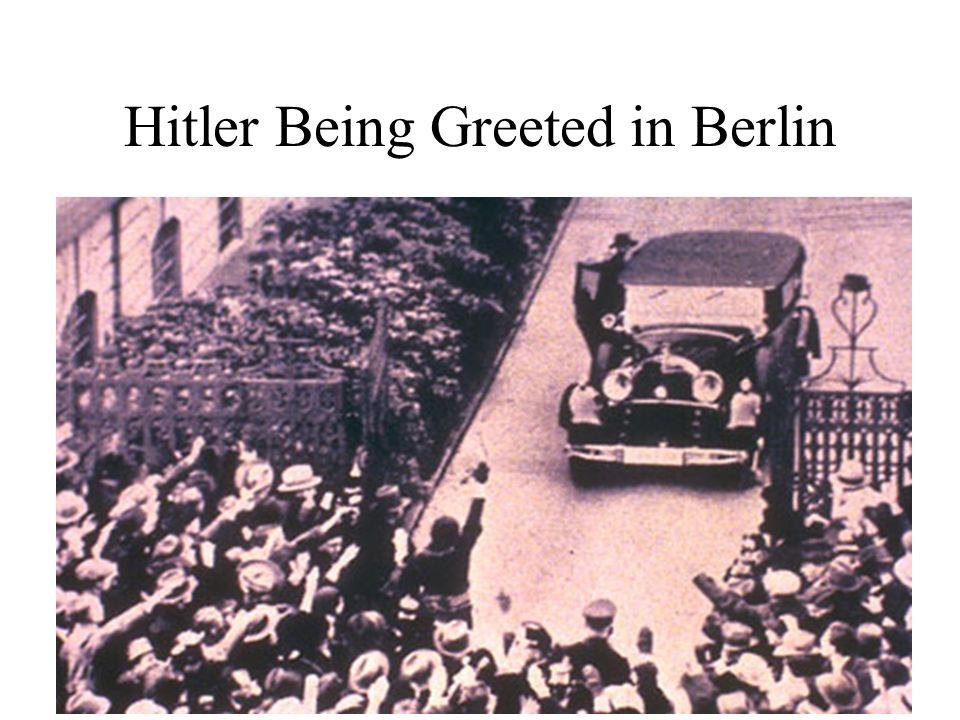 Hitler Being Greeted in Berlin