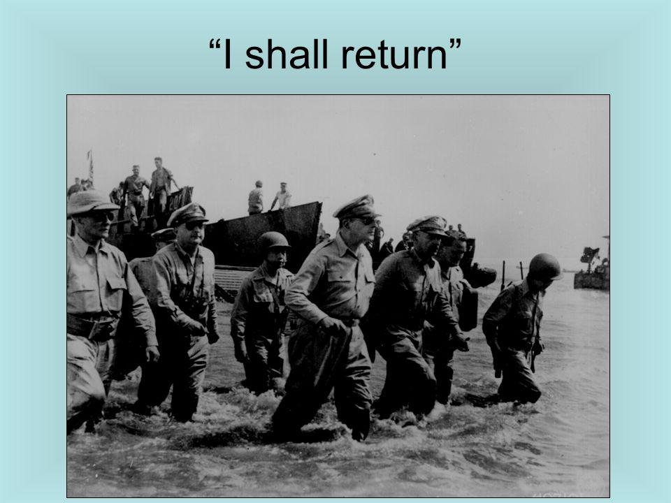 I shall return
