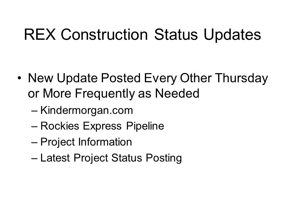 REX Notices Pipeline.Kindermorgan.com Interstate Pipelines Rockies Express Pipeline Informational Postings Notices Critical and Non-Critical