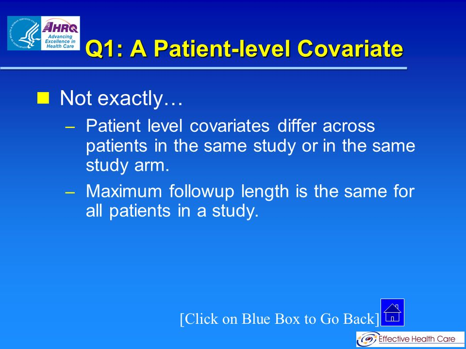 Q1: A Study-level Covariate Correct.