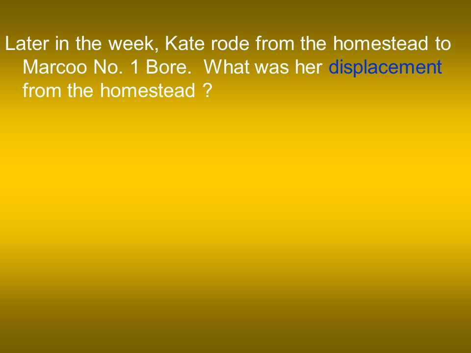 Later in the week, Kate rode from the homestead to Marcoo No.