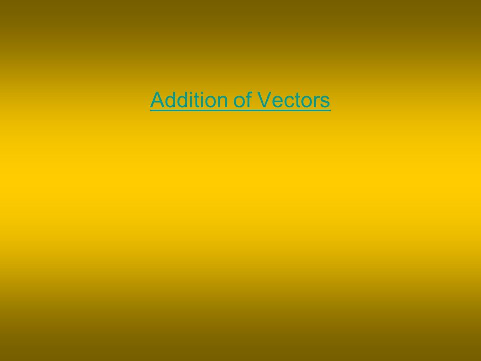Addition of Vectors
