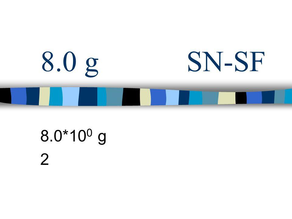 8.0 gSN-SF 8.0*10 0 g 2