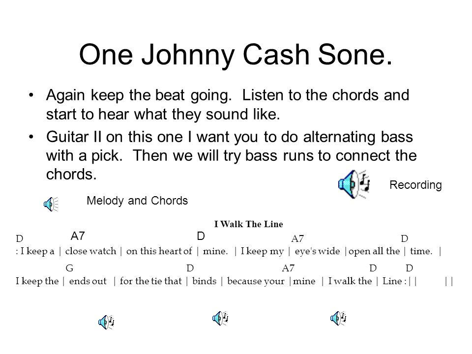 One Johnny Cash Sone. Again keep the beat going.