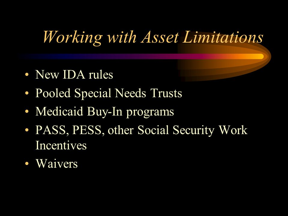 WIDs Access to Assets EQUITY NEWSLETTER EQUITY disseminates education and advice about disability issues to the Asset Building Community while simultaneously offering information about Individual Development Accounts (IDAs) and other asset building strategies to the Disability Community.