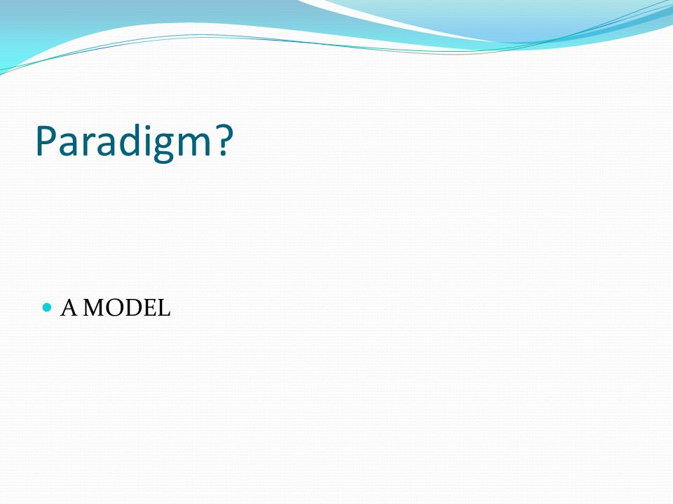 Message System Paradigm(MOM) Also called as Message-Oriented Middleware(MOM) paradigm.