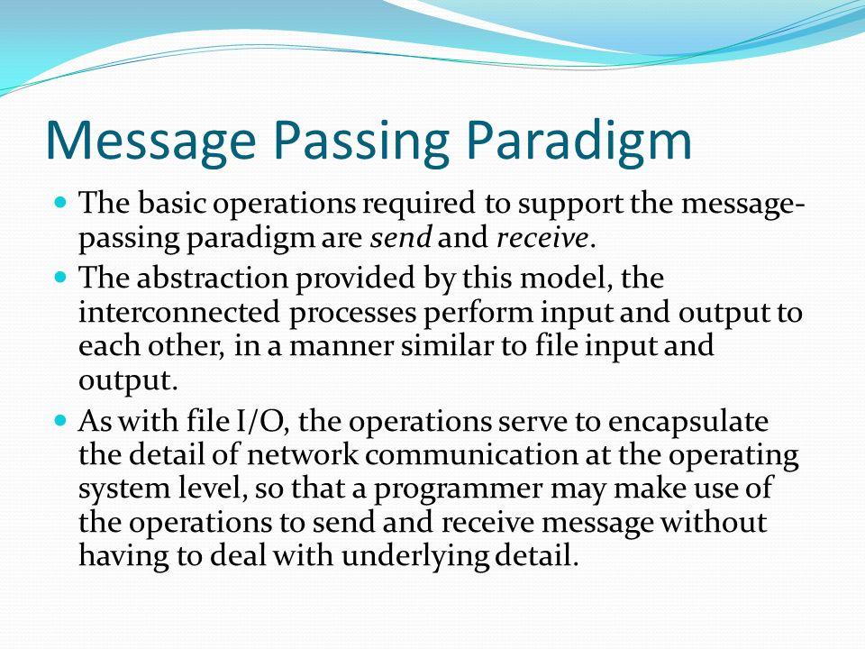 Message Passing Paradigm