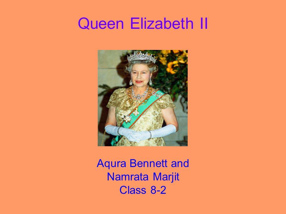 Queen Elizabeth II Aqura Bennett and Namrata Marjit Class 8-2