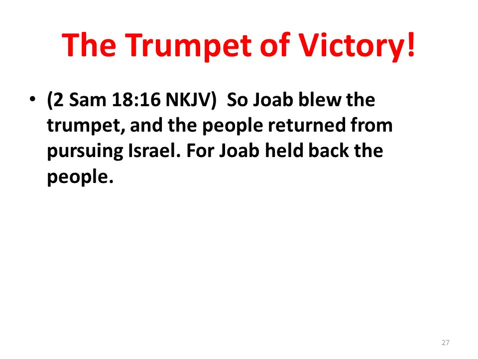The Trumpet of Victory.