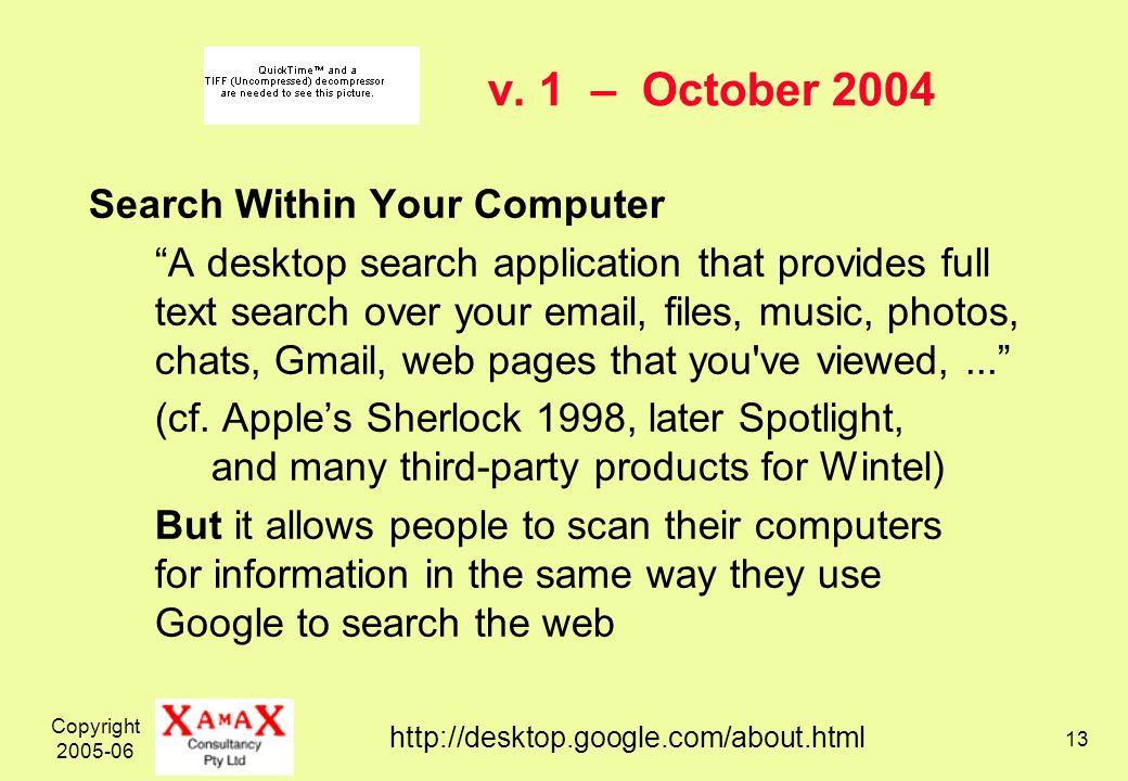 Copyright 2005-06 13 v.