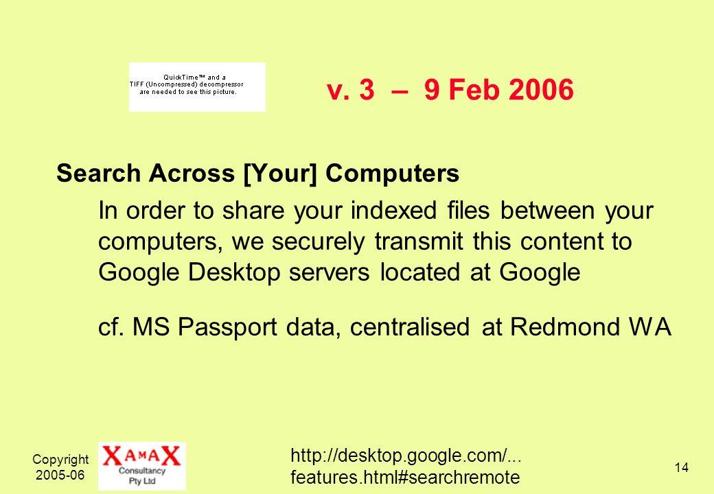 Copyright 2005-06 14 v.