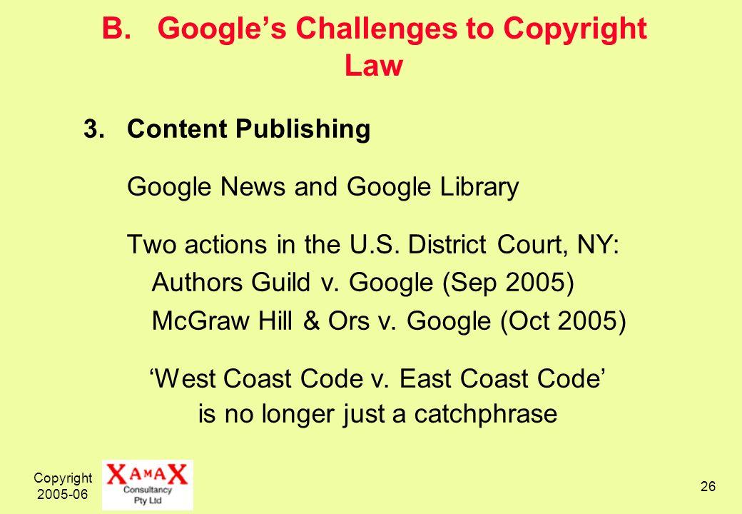 Copyright 2005-06 26 B.
