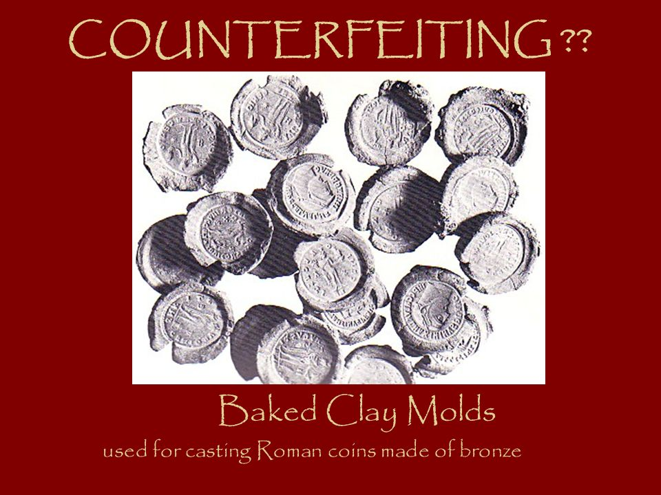 Baked Clay Molds used for casting Roman coins made of bronze COUNTERFEITING ??
