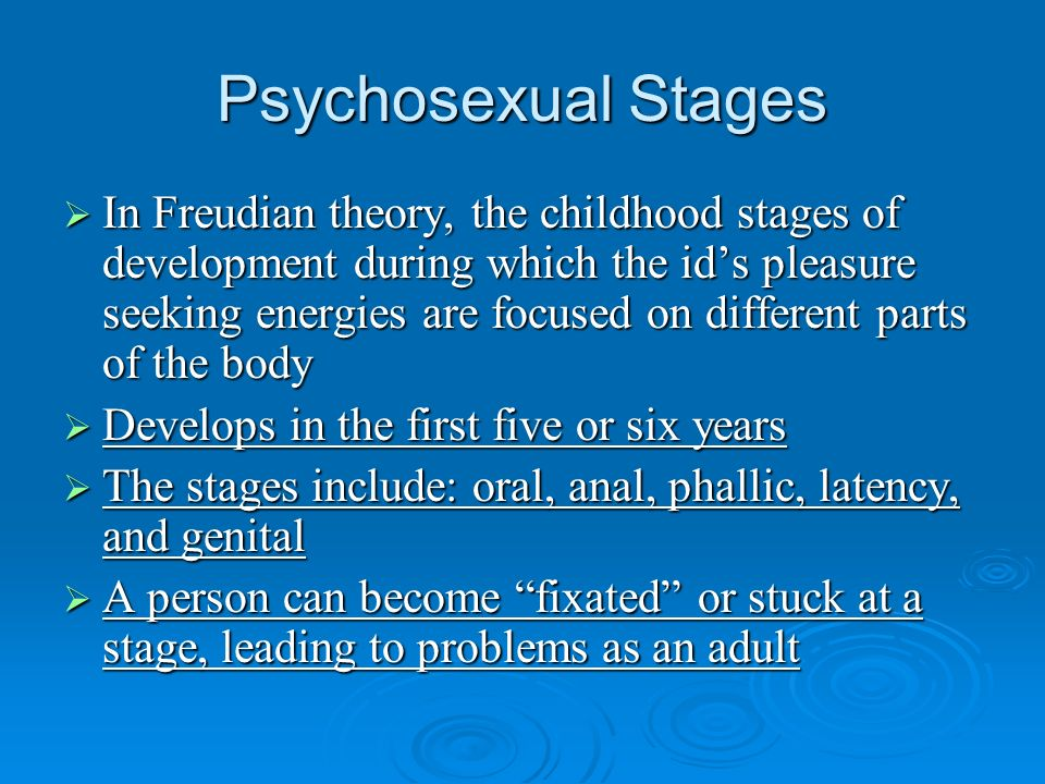 assessment of developmental stages of a
