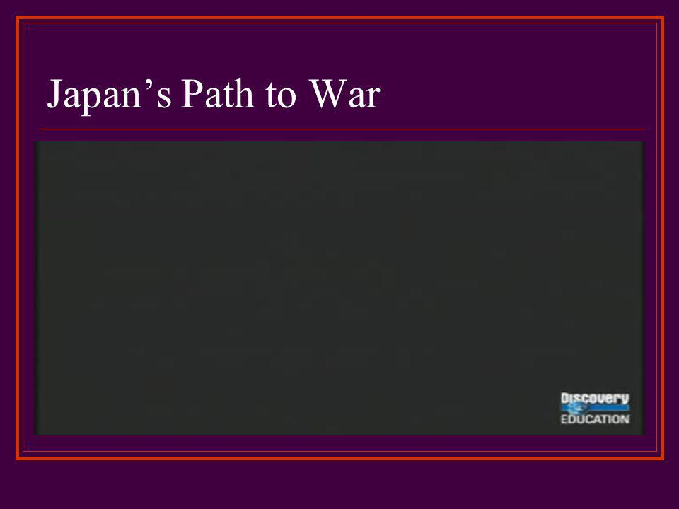 Japans Path to War