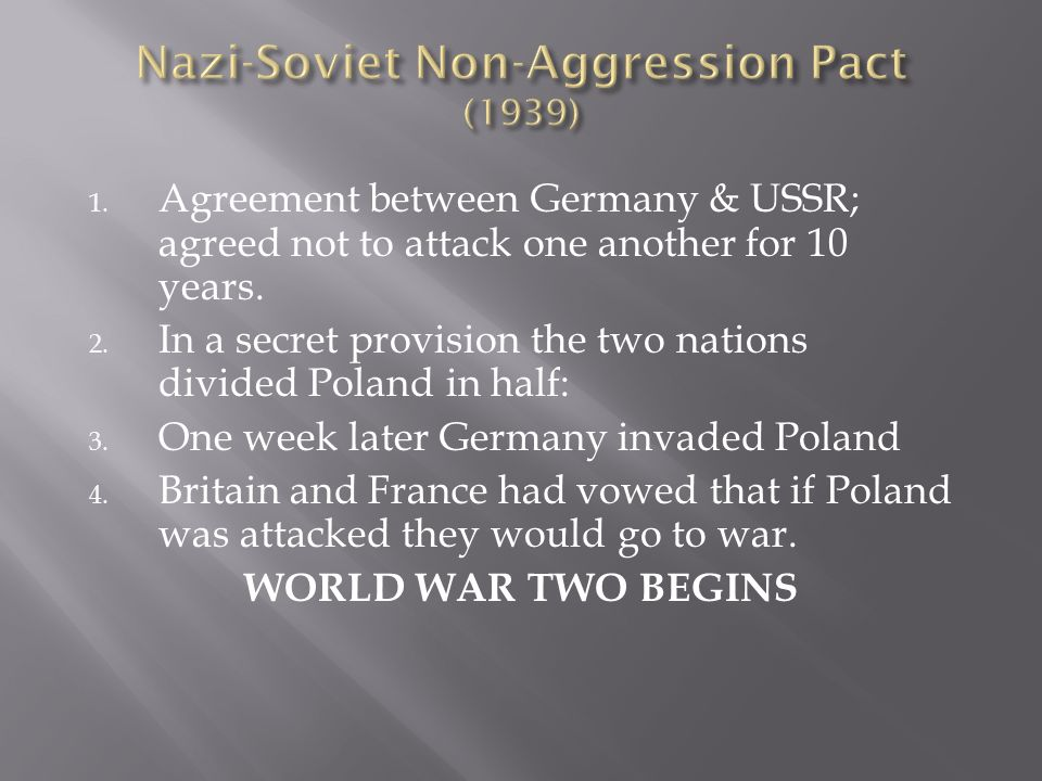 Hitler demanded Polands port city of Danzig but the Poles wouldnt give in. Hitler was ready to fight, but concerned about USSR, so…