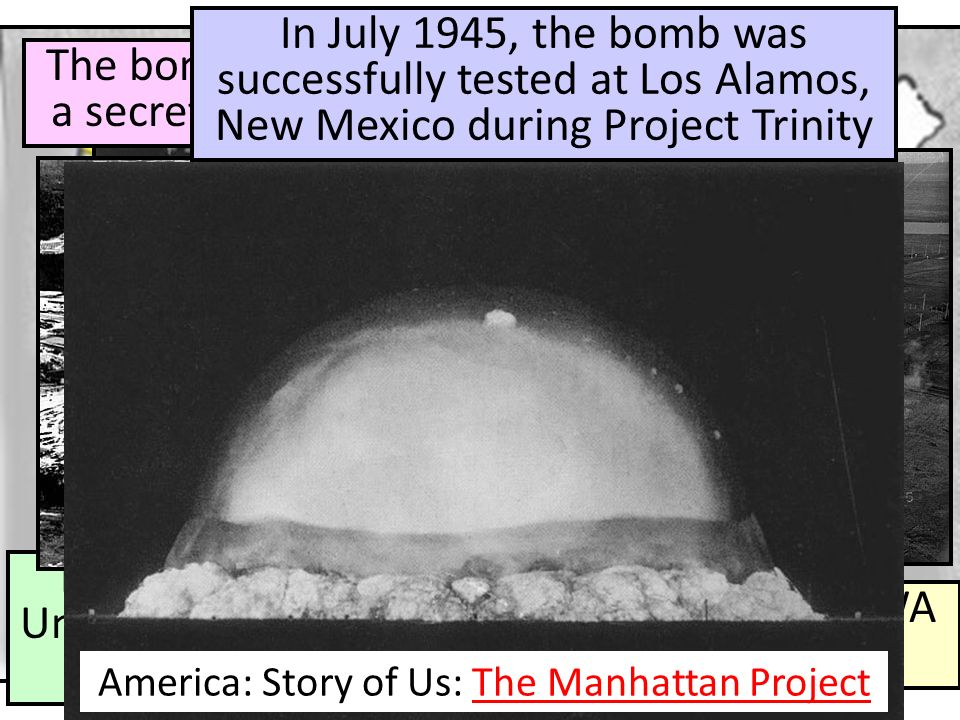 Physicist Enrico Fermi at the University of Chicago developed the nuclear reaction Nuclear plant in Hanford, WA developed the plutonium The bomb was c