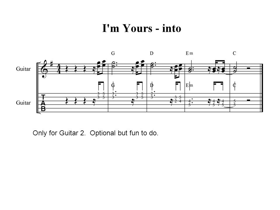 Only for Guitar 2. Optional but fun to do.