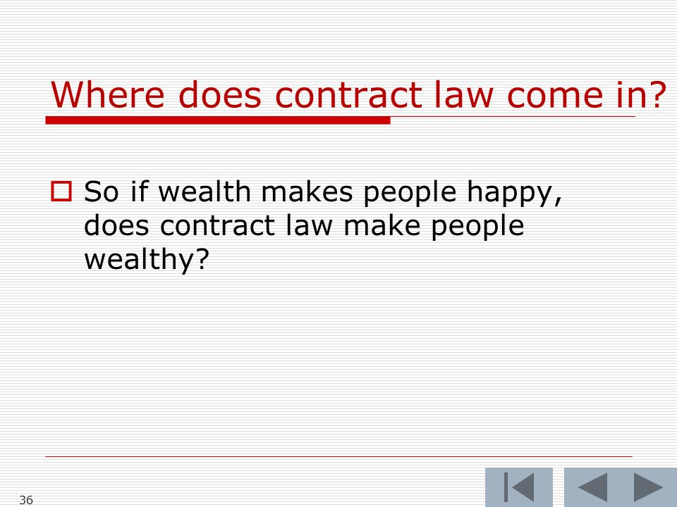 Where does contract law come in.