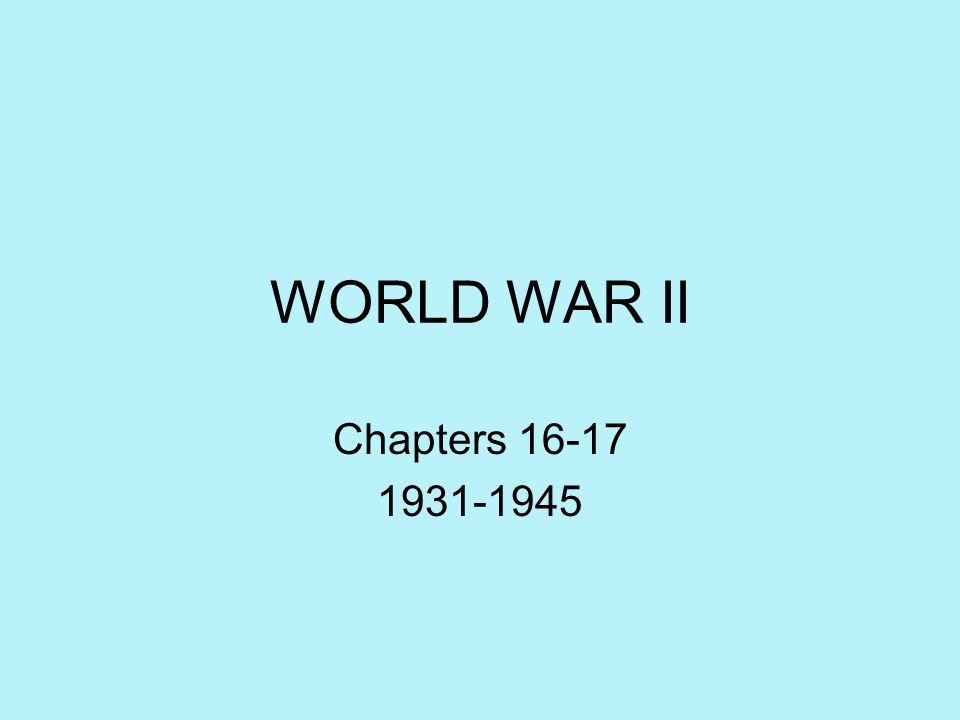 World War II: Allied Strategies Main Idea: The Allies postponed an invasion of western Europe until Italy was secured.