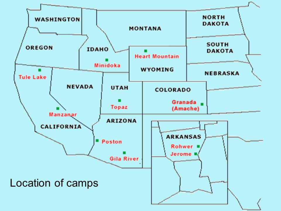 Location of camps