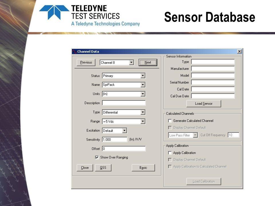 Sensor Database