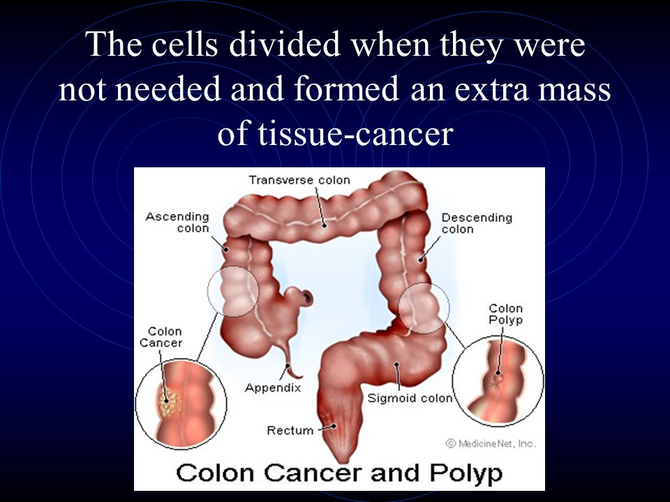 The cells divided when they were not needed and formed an extra mass of tissue-cancer