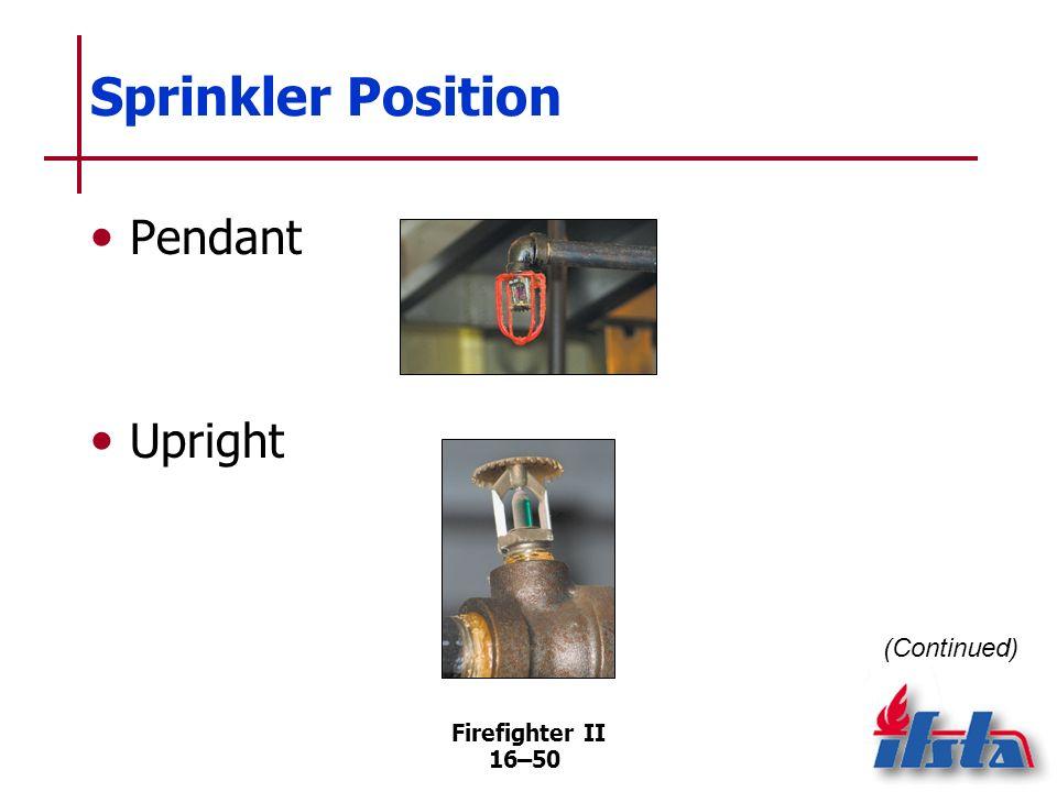 Firefighter II 16–49 Sprinklers Chemical pellet