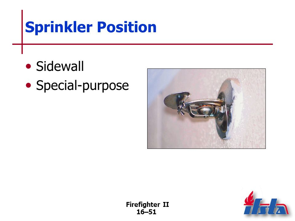 Firefighter II 16–50 Sprinkler Position Pendant Upright (Continued)
