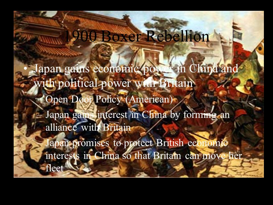 War on the Mainland in 1894 The Japanese capture Formosa and gain economic interests in Korea