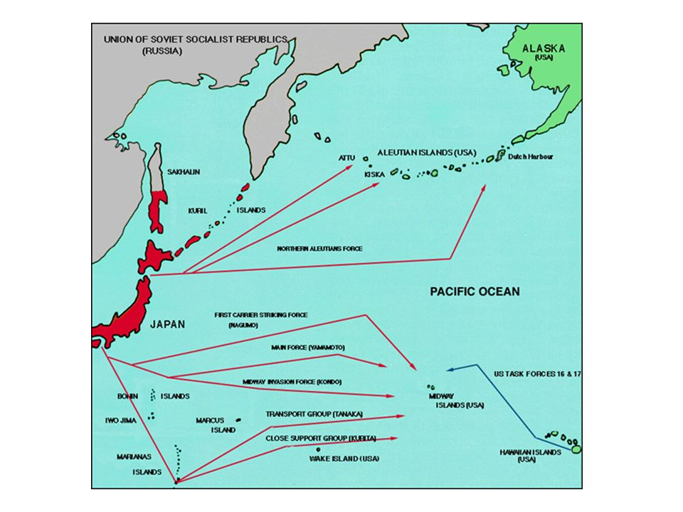 Battle of Midway Japan attacks Alaska to divert attention from Midway Island – not fallen for 1943 Japan is driven off Fight against Japan was boosted
