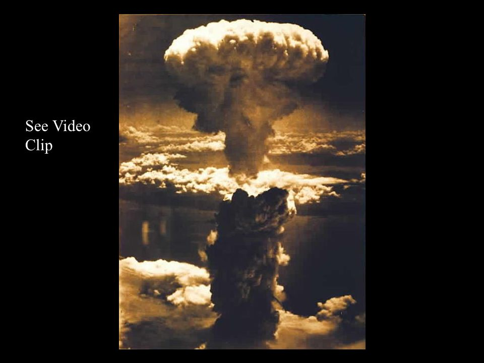 Atomic Bomb War weary the Americans decide to use the Atomic Bomb Causalities of invading Japan were estimated high Roosevelt dies – Truman replaces h