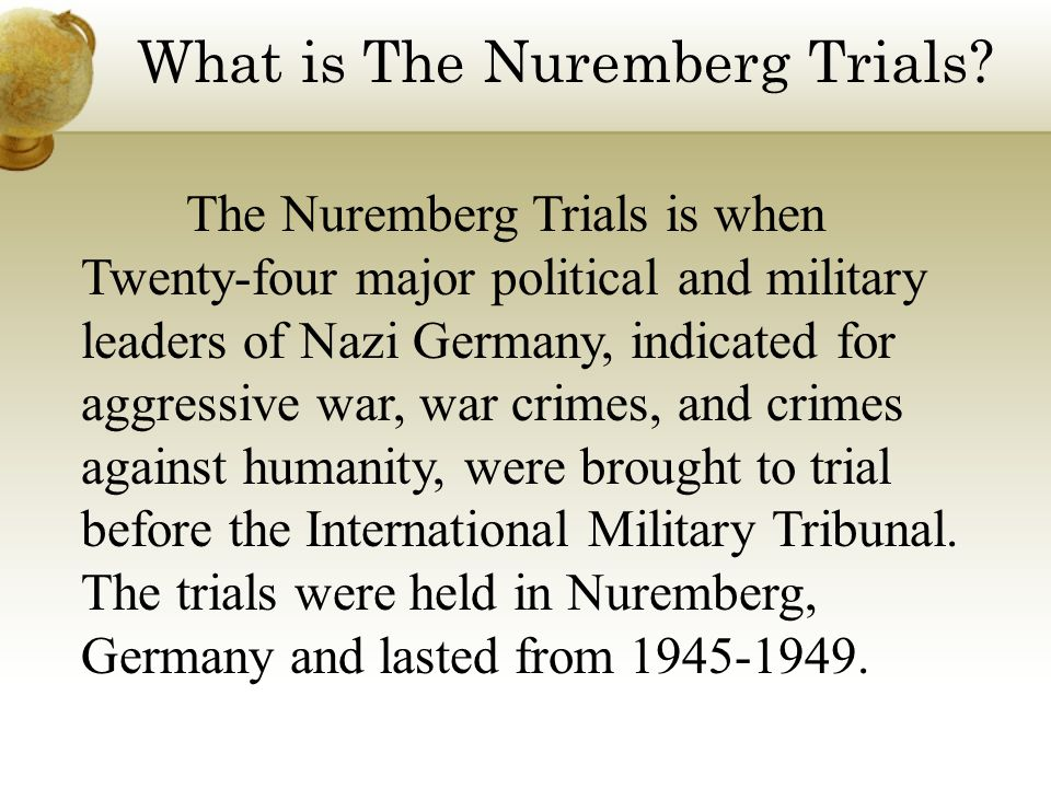 What is The Nuremberg Trials.