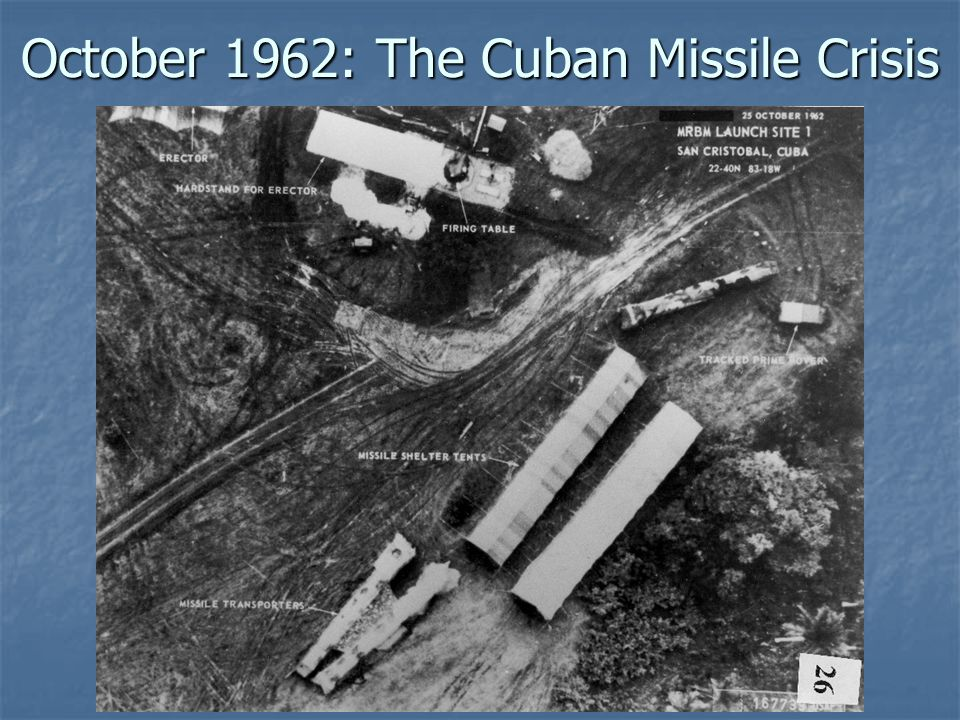 October 1962: The Cuban Missile Crisis