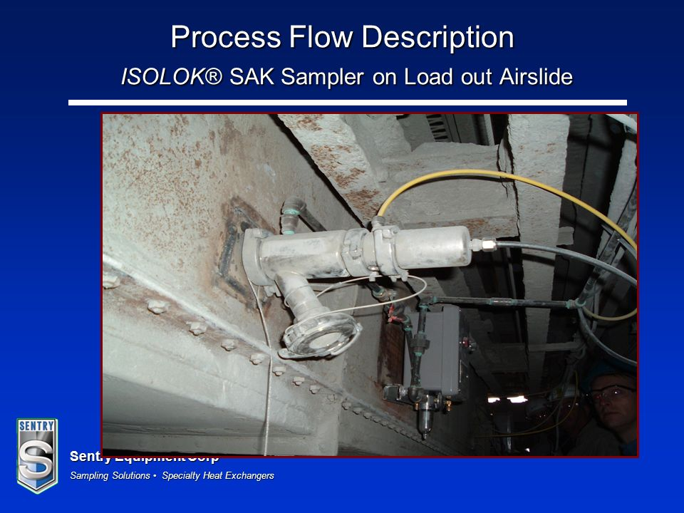 Sentry Equipment Corp Sampling Solutions Specialty Heat Exchangers Process Flow Description ISOLOK® SAK Sampler on Load out Airslide