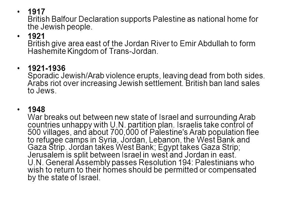 1964 Palestine Liberation Organization founded in Jerusalem.