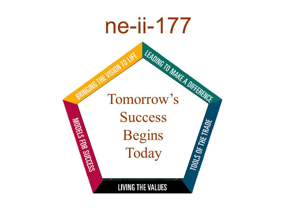 Tomorrows Success Begins Today ne-ii-177