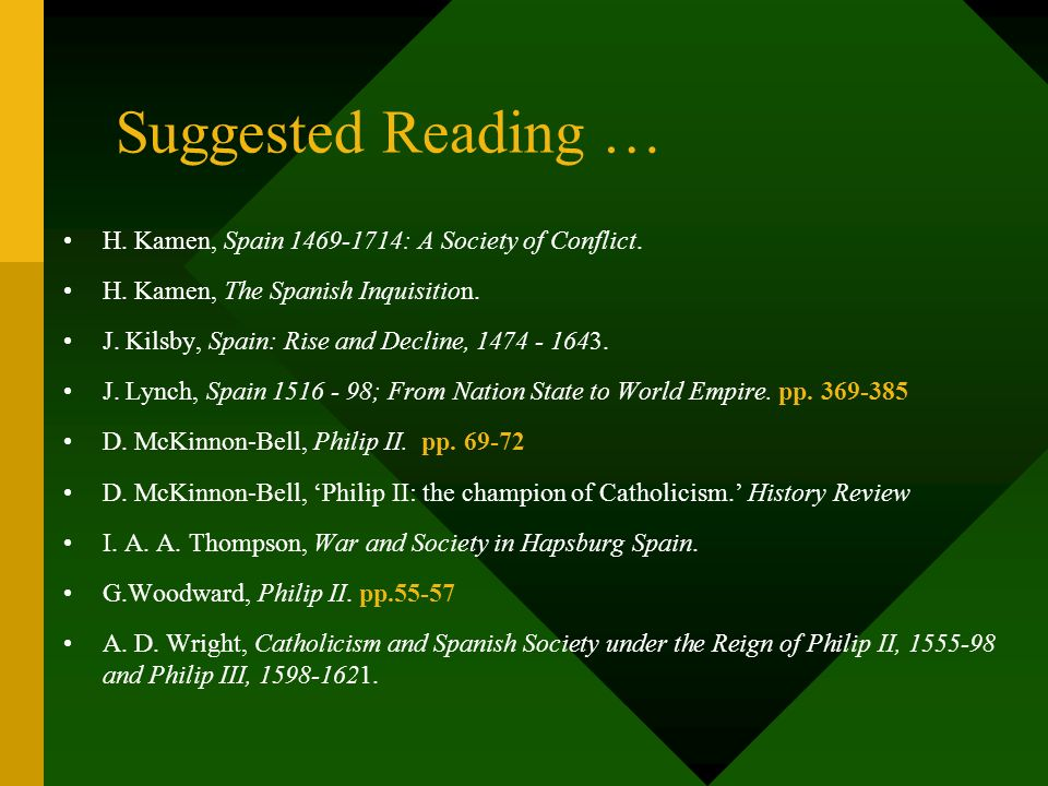 Exercise … Why were relations between Philip II and Papacy so difficult ? Make notes under the following headings, then answer the above essay questio