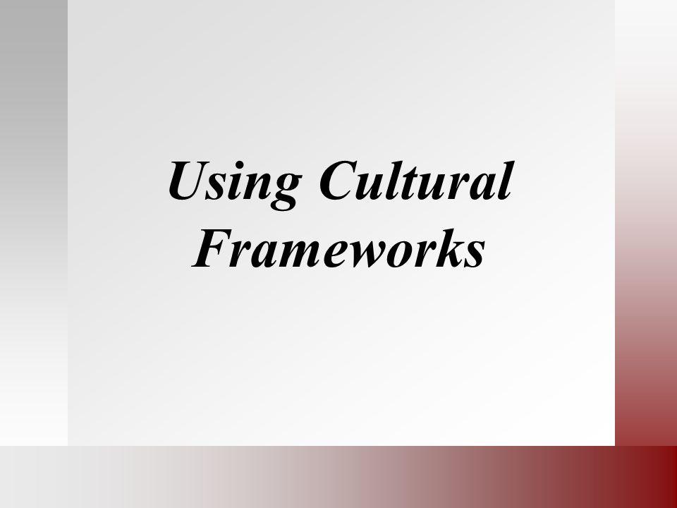 Using Cultural Frameworks