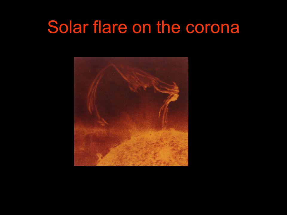 Solar flare on the corona