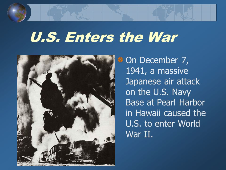 Japanese Internment Following the Japanese attack on Pearl Harbor, President Franklin Roosevelt issued Executive Order 9066.