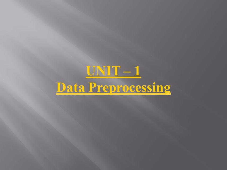 Data Preprocessing Learning Objectives Understand why preprocess the data.