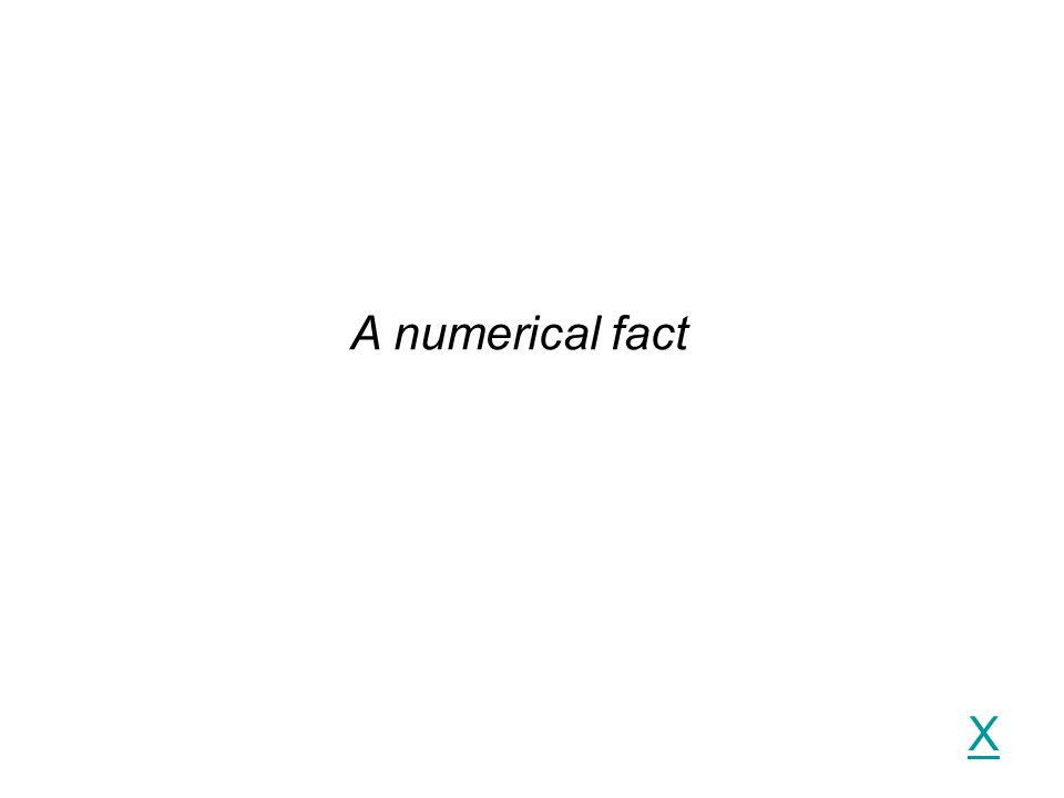 X A numerical fact