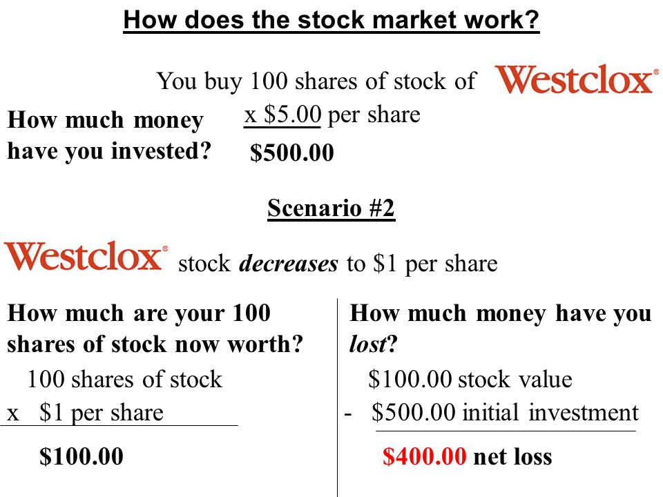 How does the stock market work.