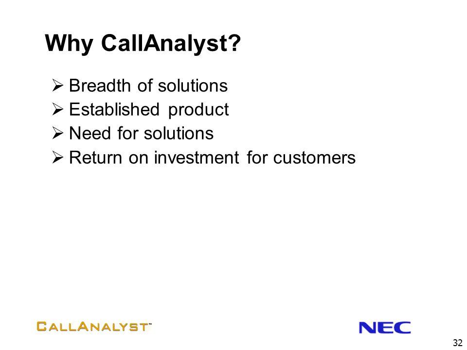 32 Why CallAnalyst.